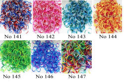 3 colors new loom bands rubber bands (600PCS + 24 S clip + 1 hook) wholesale