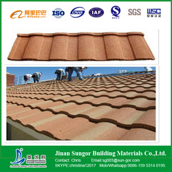 Latest Price of Popular Classical Colorful Stone Coated Metal Roof Tile