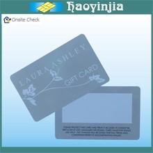 Sliver/Gold Background Gift Promotion Card