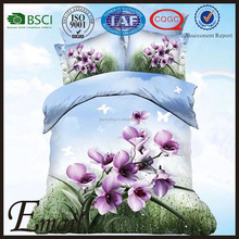 Home Fashion purple Calla Lily blooming 3d custom printed flower 3d cotton comforter set