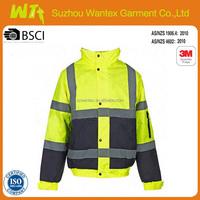 high quality cheap workwear reflective jacket for man winter life safety jacket clothing heavy jacket clothing