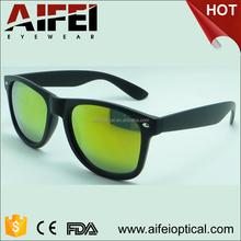 Unisex plastic orange lens sunglasses with FDA