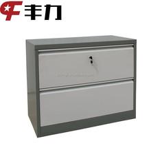 Professional design home used steel 2 drawer dvd storage cabinet