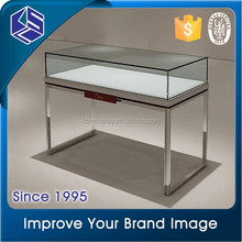 Simple design good quality T glass jewelry display cases jewelry display cabinet