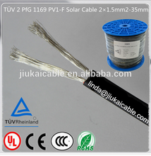 China manufacture 1800v dc 2x4mm dc solar cable TUV/UL