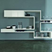 decorative wall hung shelf/white acrylic solid surface kids book shelvings