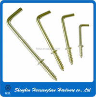 Good l screw l type screw hooks of metal l shaped screw hooks