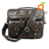 Leather bag manufacturer wholesale fashion style mens crazy horse leather bag with best quality