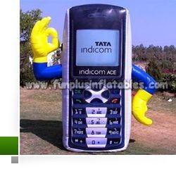 Quick delivery giant inflatable moible phone, inflatable balloon P4002