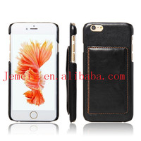 Retro Card Slot Stand Leather Back Cellphone Mobile Accessory For iPhone 6 plus Back Cover Case with Card Slot