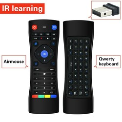 2.4GHz Airmouse and Keyboard 2 in 1 Remote Control with IR Learning for TV Box