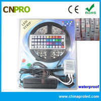 12V 5A power supply 5050 rgb waterproof led strip kit with remote control