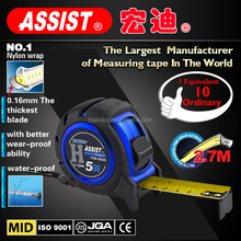 3m 5m 7.5m steel reinforced fit hands comfortably nylon wrap magnetic tape measure