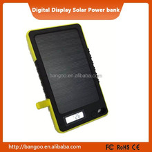2015 Hot sale ! solar portable power bank charger 13000mahpower bank with digital display