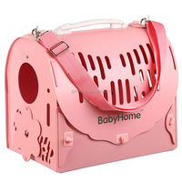 2015 new products foldable polypropylene plastic dog carrier