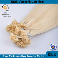 2014 Aliexpress Hot Selling Glamourous Virgin Unprocessed 7a 8a Grade Remy Nail Tip Hair Extension