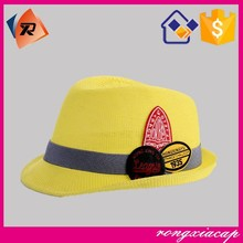 China wholesale children thin embroidery patch Jazz cap