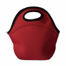 Custom neoprene lunch picnic food clutch tote hand bag Deluxe Insulated Lunch Carrier