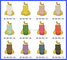 Cotton Girls 12 Colors Summer Polk Dots Sequin Ruffles Romper Halter Baby Rompers