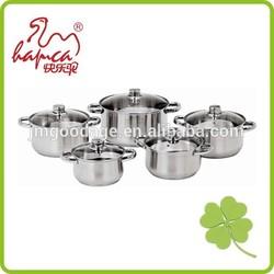 Induction Sauce Pot, 10pcs Stainless Steel Cookware Set, Casserole, Cooking Pot
