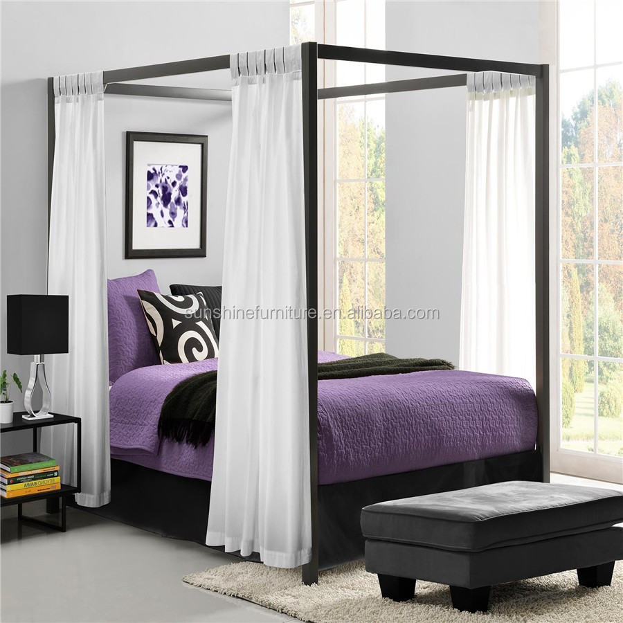 King Size Queen Size Modern Metal Furniture Modern Luxury Princess Canopy Bed Buy Canopy Bed