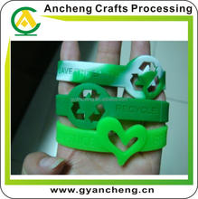 promotion wholesale cheap fashion silicone wrist band glow in the dark forpromotional products