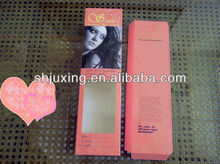 2013 popular wholesale white card hair box packaging