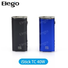2015 Newest Box Mod iSmoka Eleaf iStick TC 40W Temperature Control Mod Variable Voltage Ecig 100% Original Eleaf iStick 40w