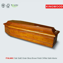 ITALIAN european measures flat packed coffin from alibaba china