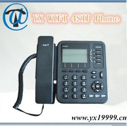 Cheap wifi sip phone 4 line wifi sip desk phone with rj11 and rj45