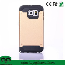 new 2016 gold pc tpu shock resistant factory wholesale custom cellphone cases for samsung galaxy s6