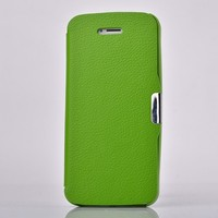 Colorful Litchi Magnetic Flip Leather Case For Samsung Galaxy S4 Active i9295/Ace plus S7500