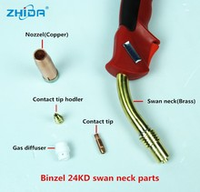 the king of quantity mig weld swan neck for gas welding torch of welding machine
