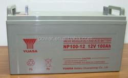 12 volt 100ah yuasa battery vrla ups solar battery 12v 100ah with long life