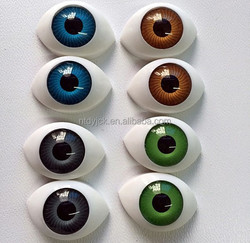 Acrylic blue brown green grey plastic oval eyes for doll wholesale