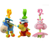 Baby trolley pendent toy with clip 27cm plush funny toy