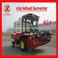 4LZ-4 high effiency wheel type paddy combine harvester
