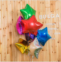 10inch 30pcs Five-pointed star Aluminum Balloons Birthday Party Decorations Kids Festive Supplies Multicolor