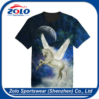 Custom made full over sublimation printing t shirts for women