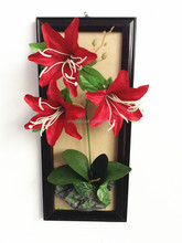 European style fake wall hanging flower lily
