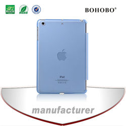 Fashion transparent plastic cover case for Ipad mini