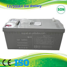12V 200AH gel battery, battery recycling plant