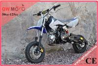QWMOTO CE Blue skull 50cc 110cc 125cc engine motorcross 125cc dirt bike for sale