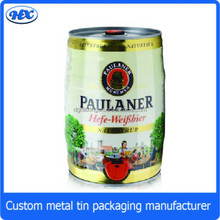 5 litres tin beer can