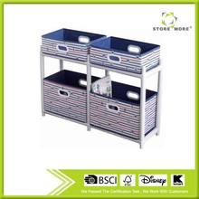 Stripe Series Folding Storage Box with White Shelves