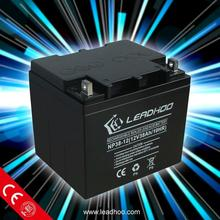 rechargeable car ebike motorcycle mf battery 12v38ah