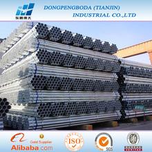 BS EN 39 para agua y gas natural cedula 30/cedula 40 tubo galvanizado precio