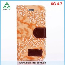 Retro leather wallet for iPhone 6, for iPhone 6 retro stand leather case