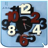 Modern art decorative novelty wall hanging digital clock quartz sport watch price