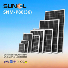 80W small POLY solar panel for 12V DC battery lighting with TUV IEC CE